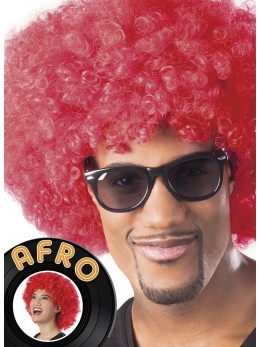 Perruque Afro rouge promo