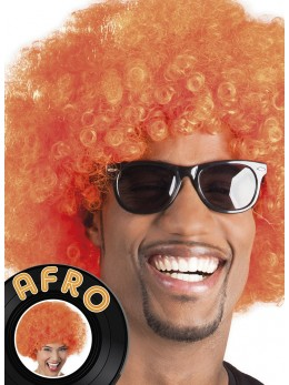 Perruque Afro Orange promo