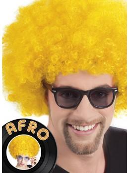 Perruque Afro jaune promo