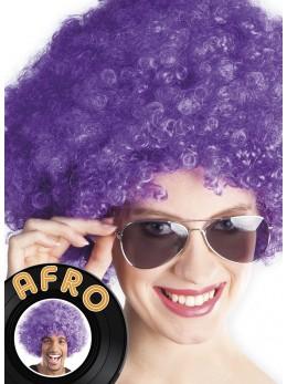 Perruque Afro violette promo