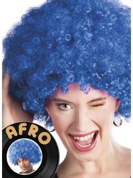 Perruque Afro bleu promo