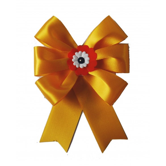 Cocarde conscrit parade jaune