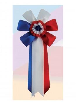 Cocarde conscrit luxe tricolore