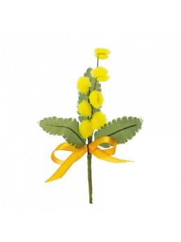 Décoration piquet de mimosa 6.5 cm