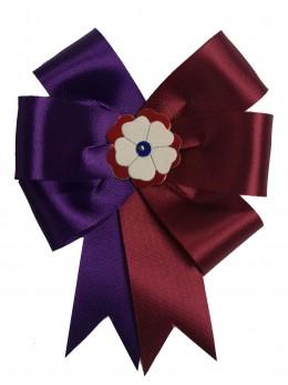 Cocarde parade violet et bordeaux