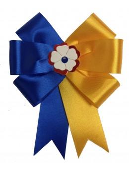 Cocarde parade bleu et jaune