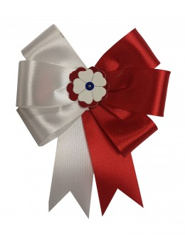Cocarde parade rouge et blanche