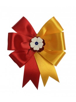 Cocarde parade rouge et jaune