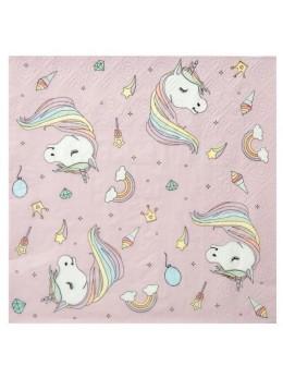 20 Serviettes papier licorne