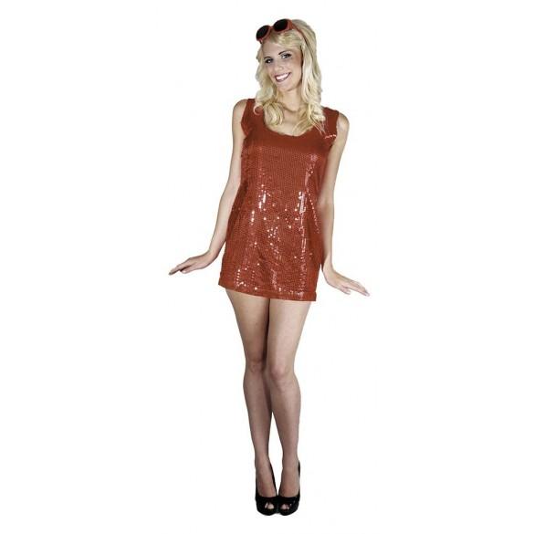 Déguisement robe disco rouge