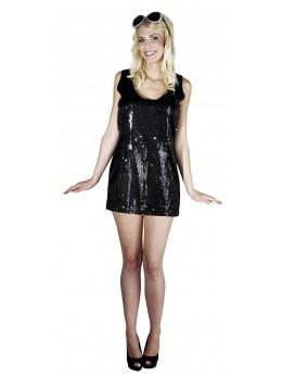 Déguisement robe disco noire