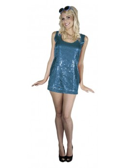 Déguisement robe disco turquoise