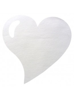 50 Sets de table coeur blanc