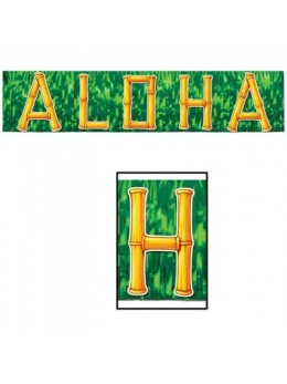 Guirlande franges Aloha verte