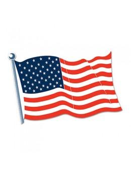 Déco carton drapeau USA 45cm