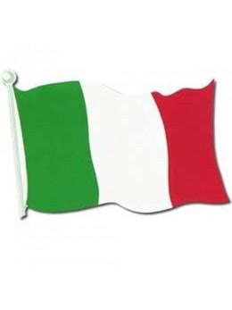 Déco carton drapeau Italie 45cm