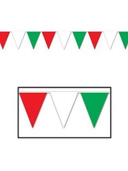 Guirlande pavillon vert blanc rouge