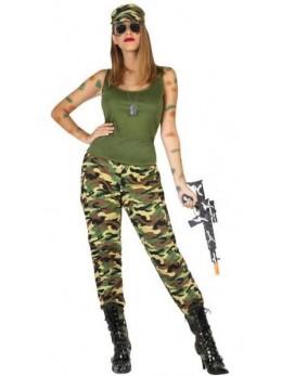 Déguisement femme soldat GI