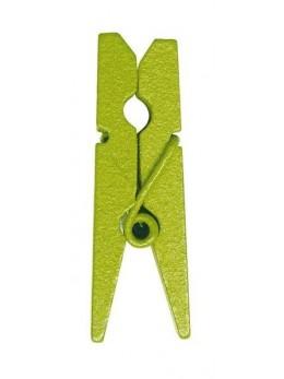 24 Mini pince à linge vert anis