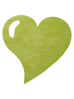 50 Sets de table coeur vert