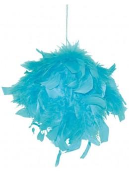 Boule de plumes turquoise 10cm