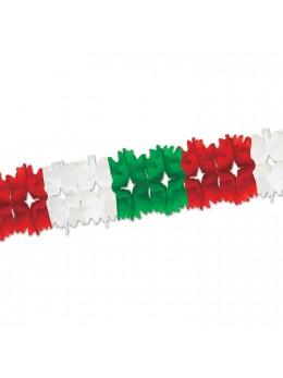 Guirlande papier tricolore vert blanc et rouge