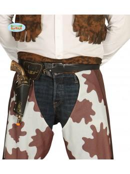 Ceinture + 1 pistolet cowboy adulte