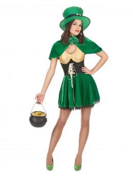 Déguisement leprechaun Saint Patrick fille