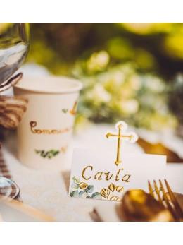 10 marque places communion croix