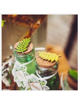 6 confetti bois feuilles de laurier
