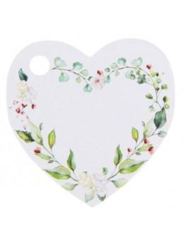 10 étiquettes coeur végétal