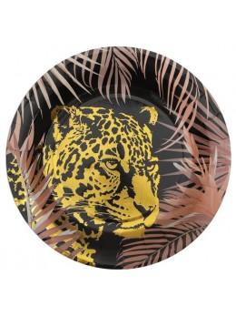 10 Assiettes jungle léopard