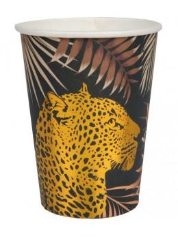 10 Gobelets Jungle léopard