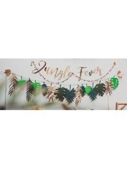 Guirlande feuilles tropicales exotique