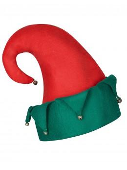 Bonnet de lutin rouge et vert