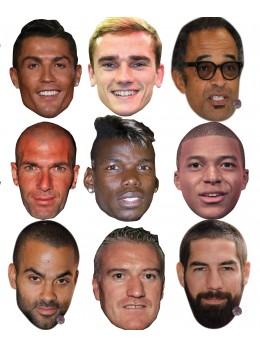 Assortiment 9 masques célébrités sportifs