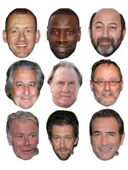 Assortiment 9 masques acteurs français