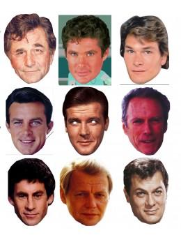 Assortiment 9 masques séries 80