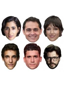 Assortiment 6 masques Casa de Papel