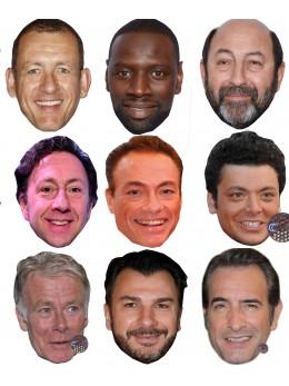 Assortiment 9 masques célébrités télé