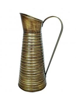 Cruche métal laiton brun