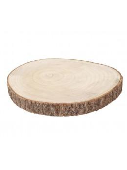 Déco rondin de bois 3.5cm par 34cm