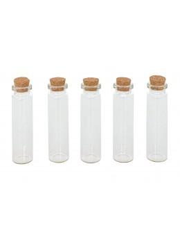 Sachet 5 éprouvettes en verre