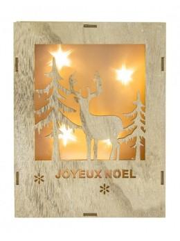 Tableau lumineux Noël forêt avec led