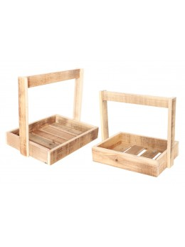 Lot de 2 supports bois anse