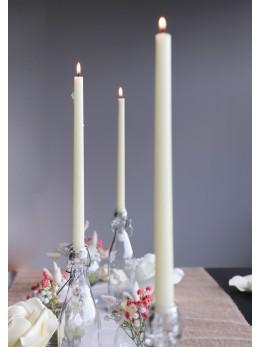 Set 2 bougies flambeau ivoire 40cm