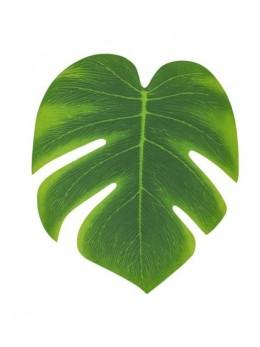 Lot 4 feuilles tropicales 21cm