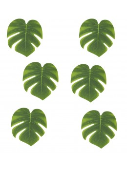 Lot 6 mini feuilles tropicales 15cm