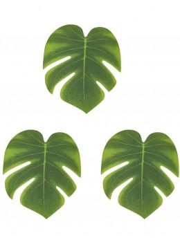 Lot 3 feuilles tropicales 35cm