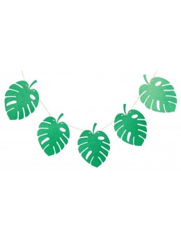 Guirlande 10 feuilles tropicales